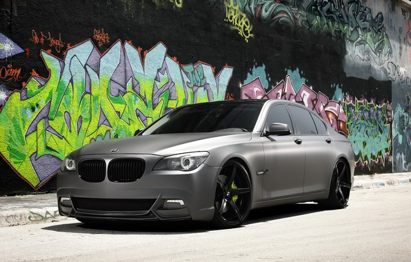 Картинка BMW, with, Series, gray, matte, complete, exterior, wrap