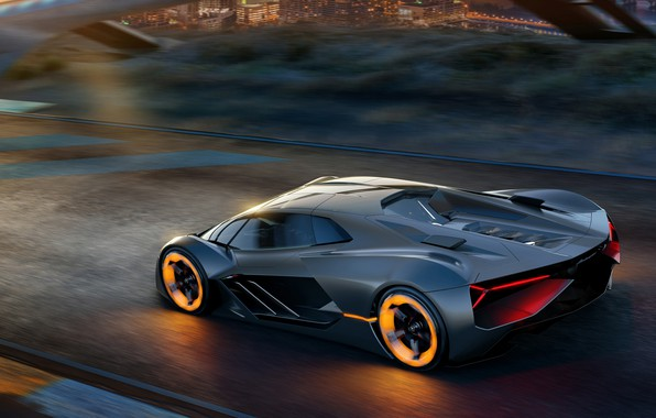 Фото обои Concept, Lamborghini, суперкар, Terzo Millennio