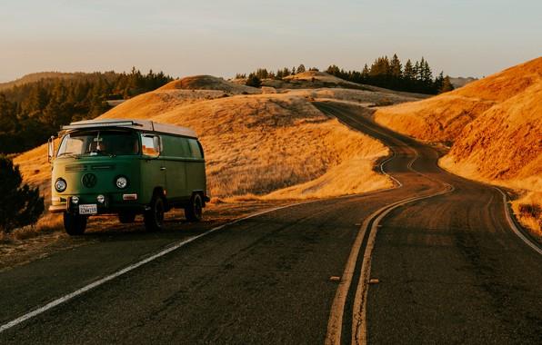 Картинка Дорога, Volkswagen, Калифорния, Автомобиль, Сан - Франциско