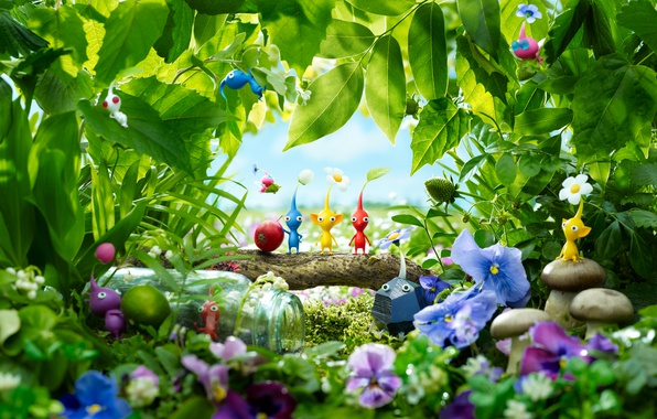 Картинка Game, Wii U, Pikmin 3, Thevideogamegallery.com
