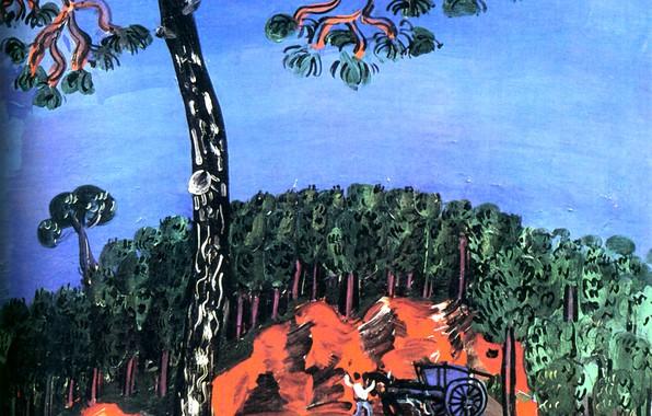 Картинка New York, 1926, Huile sur Toile, Raoul Dufy, Perls Galleries, Paysage de l'Esterel, Landscape of …