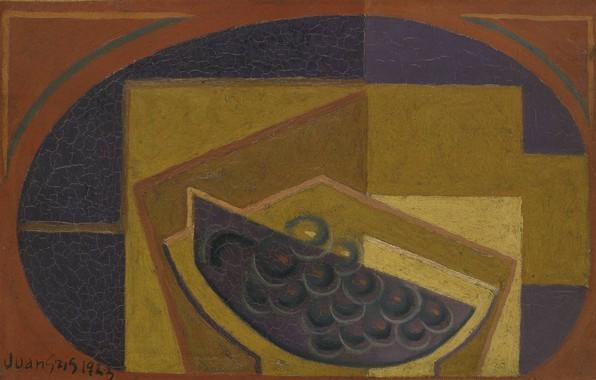Картинка кубизм, 1923, Juan Gris, Черный виноград