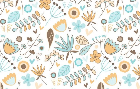 Фото обои фон, текстура, узор, вектор, цветы