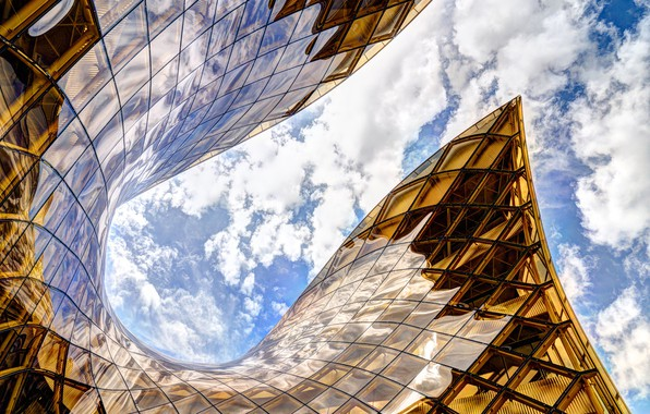 Картинка облака, здание, архитектура, Швеция, торговый центр, Мальмё, Emporia shopping center