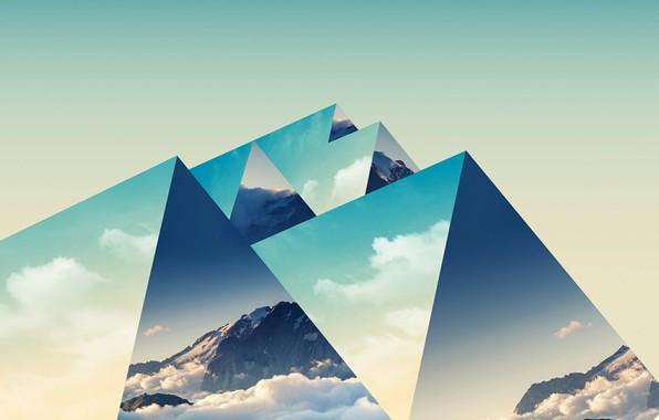 Картинка горы, фон, треугольники