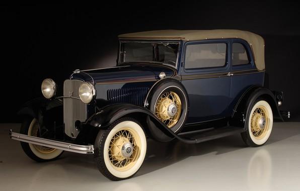 Картинка ретро, Ford, 1932, V8 Convertible Sedan