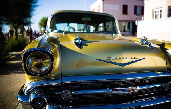 Картинка ретро, Chevrolet, Bel Air, Куба, Chevrolet Bel Air
