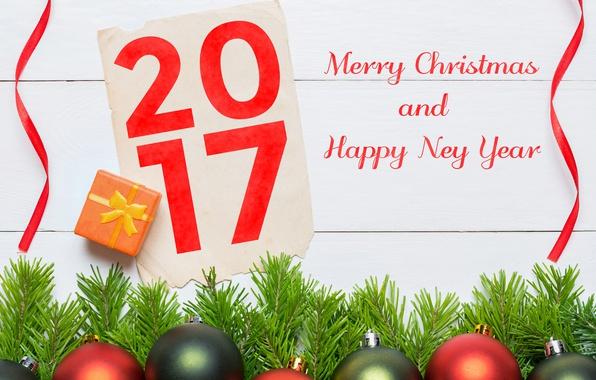 Картинка new year, happy, merry christmas, 2017