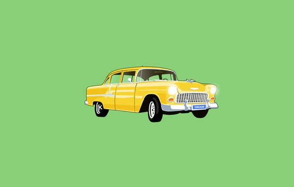 Картинка car, dream, yellow, old car
