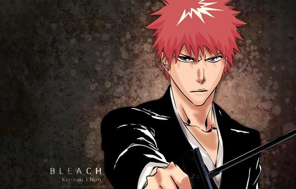 Картинка взгляд, аниме, парень, Bleach, Блич, Ичиго Куросаки
