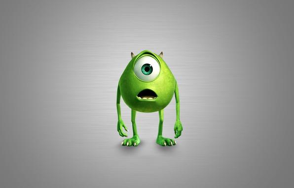 Картинка глаз, green, монстр, рот, когти, рога, зелёный, horns, eye, Корпорация Монстров, Майк Вазовски
