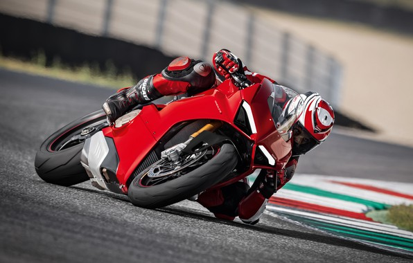 Картинка Red, Race, Ducati, Speed, Track, Superbike, Panigale, 2017, Sportbike