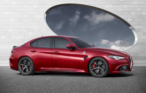 Картинка Alfa Romeo, Red, Car, Alfa, Sport, Italian, Giulia