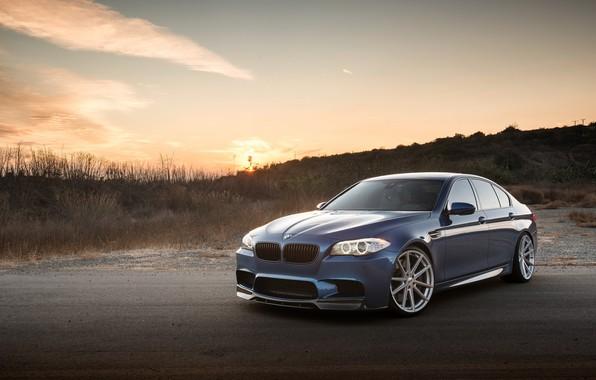 Картинка BMW, Sunset, F10, Sight, LED