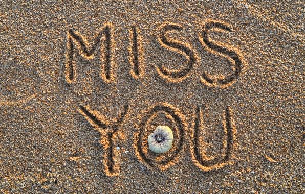 Картинка песок, пляж, лето, надпись, summer, beach, sand, miss you