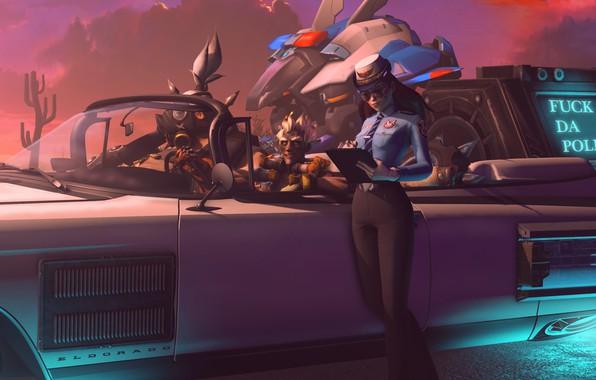 Картинка автомобиль, оформление, Da Police
