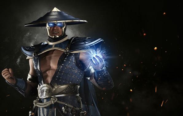 Картинка game, lightning, hero, Raiden, DC Comics, god, uniform, spark, super hero, thunder god, Injustice 2, …