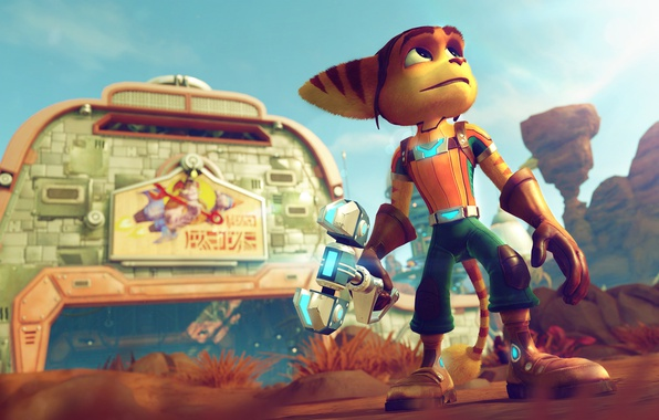 Картинка Sony, Games, Playstation, Playstation 4, Ratchet, Character, Lombax, Ratchet & Clank