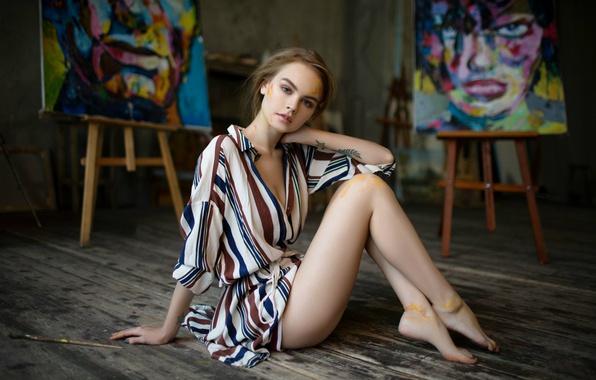 Картинка краска, тату, ножки, прелесть, кисть, Анастасия Щеглова