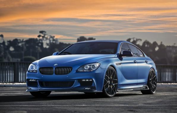 Картинка BMW, Blue, Matte, 640i