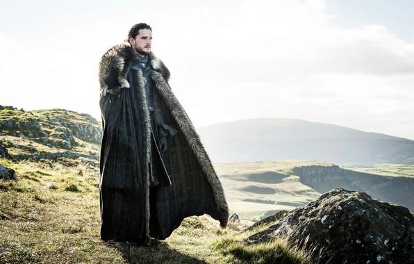 Картинка ветер, мужчина, игра престолов, game of thrones, кит харингтон, джон сноу, jon snow, король севера, …
