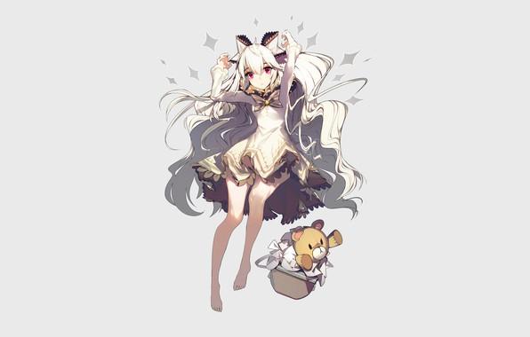 Картинка девушка, фон, аниме