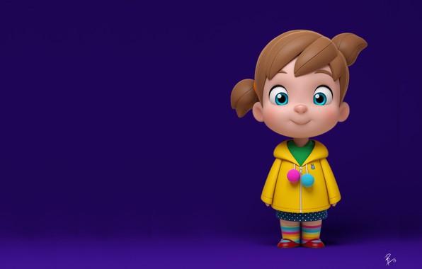 Картинка девочка, детская, Little Princess, David Barrero