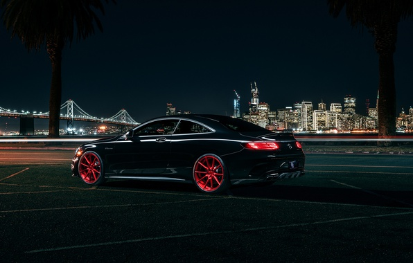 Картинка Mercedes-Benz, AMG, Coupe, Wheels, Avant, Rear, S63, Garde