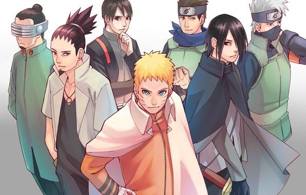 Картинка Naruto, Uchiha Sasuke, Hatake Kakashi, Uzumaki Naruto, Sai, nanadaime, Konohamaru, Shikamaru Nara, Boruto Naruto Next …
