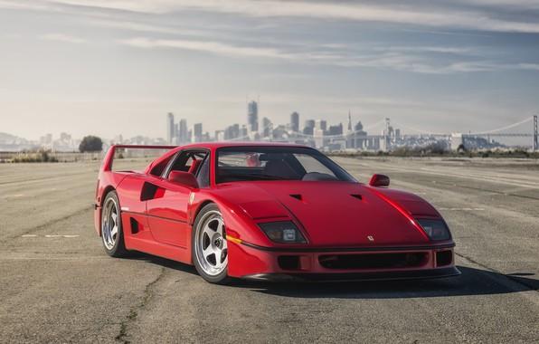 Картинка Ferrari, Red, F40