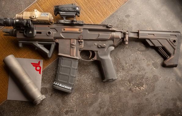 Картинка оружие, винтовка, weapon, custom, ar-15, assault rifle, штурмовая винтовка, assault Rifle, АР-15