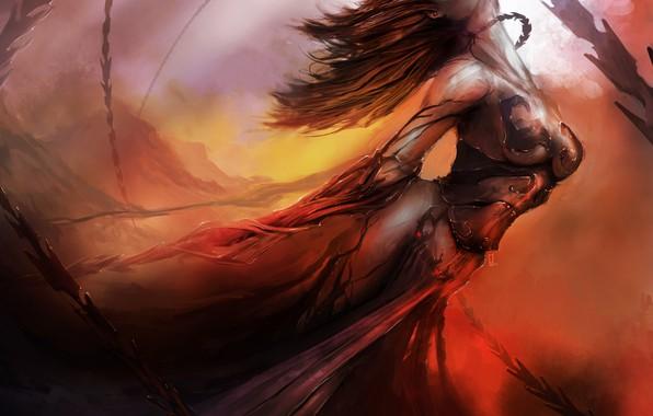 Картинка девушка, чулки, цепи, кандалы, theDURRRRIAN, whip dancer