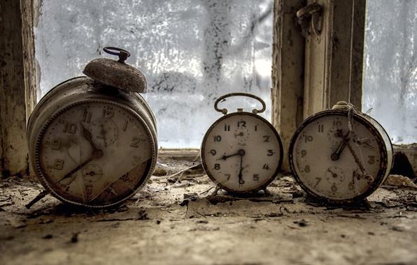 Картинка время, часы, окно