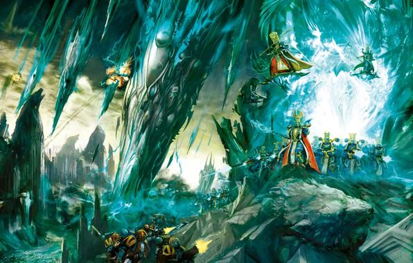 Картинка demon, chaos, space marines, Warhammer 40 000, sorcerer magic, Thousand Sons