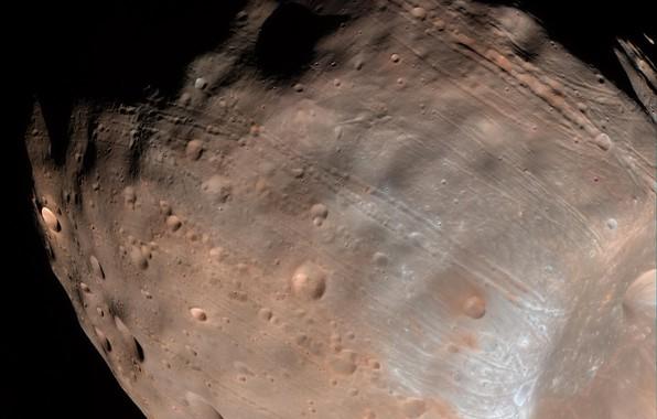 Картинка спутник, Фобос, Марса