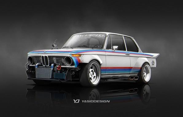 Картинка Авто, Рисунок, BMW, Машина, Car, Автомобиль, Арт, Art, 2002, Рендеринг, 1974, Speedhunters, Tribute, Yasid Design, …