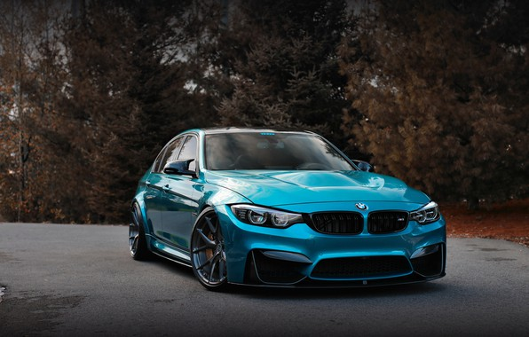 Картинка BMW, Blue, Autumn, F80, Sight
