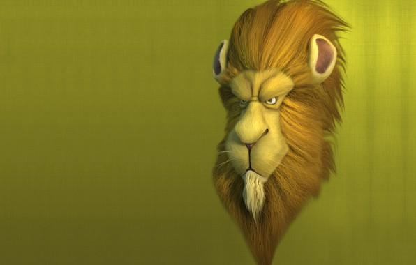 Картинка минимализм, лев, арт, Lion, Mark Fitzpatrick