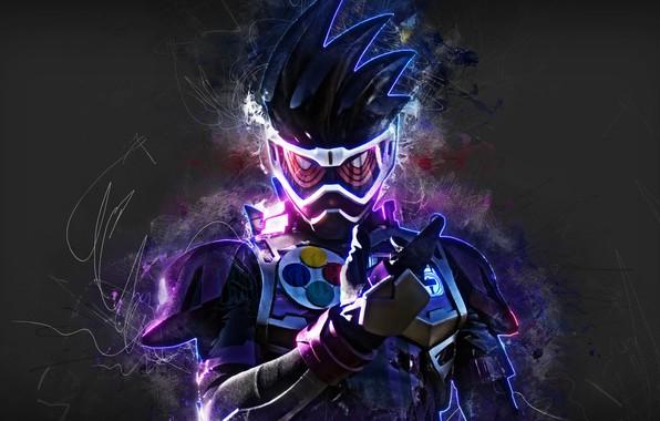 Картинка фон, colors, маска, man, hair, suit, Kamen Rider
