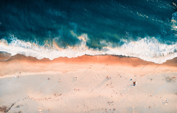 Картинка песок, волны, пляж, берег, побережье, волна, Калифорния, прибой, Орандж, Orange, USA, США, курорт, United States, …