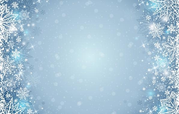 Картинка зима, снежинки, фон, winter, background, snowflakes