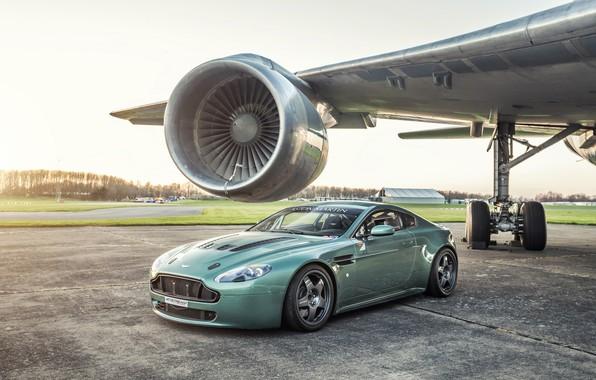 Картинка Vantage, Aston martin, airplane, turbine