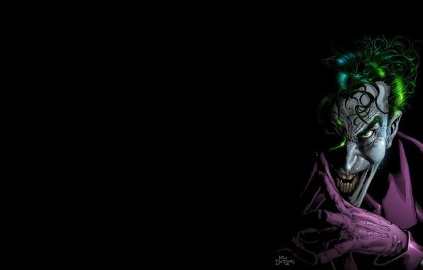 Картинка улыбка, Джокер, маньяк, Batman, комикс, Joker, DC Comics, Сумасшедший