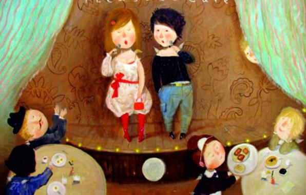 Картинка дети, кафе, аплодисменты, выступление, Гапчинская