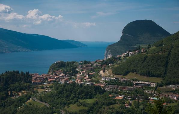 Картинка Панорама, Италия, Italy, Italia, Panorama, Гардское озеро, озеро Гарда, Lake Garda, Lago di Garda