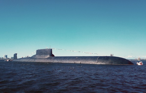 Картинка лодка, акула, субмарина, подводная, атомная