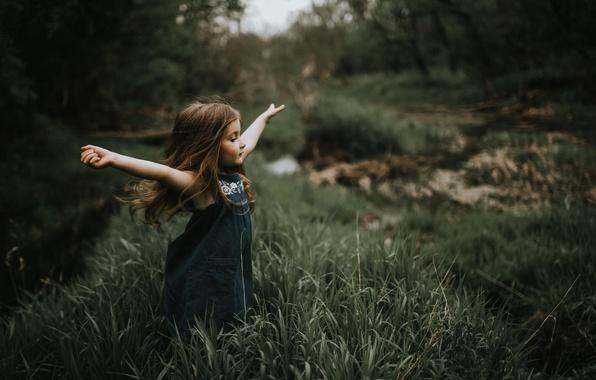 Картинка свобода, природа, девочка