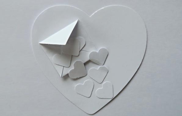 Картинка бумага, фон, сердце