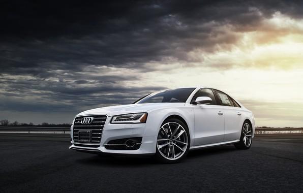 Картинка Audi, Clouds, White, VAG
