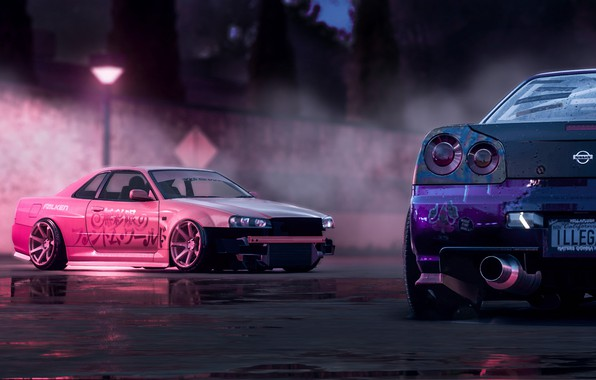 Lexus Is 350 >> Обои Pink, Nissan, Drift, Car, Purple, Skyline, R34 ...